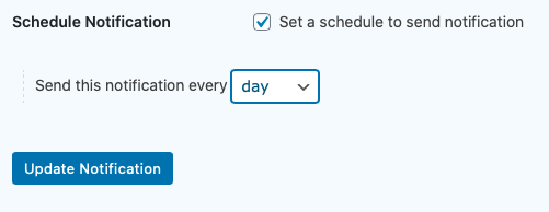 Schedule Notification Settings